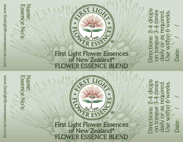 Flower Essence Blend Bottle Labels